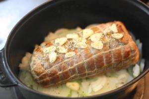 豚肉の白ワイン煮込み4
