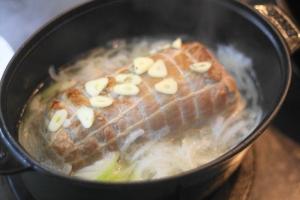 豚肉の白ワイン煮込み5