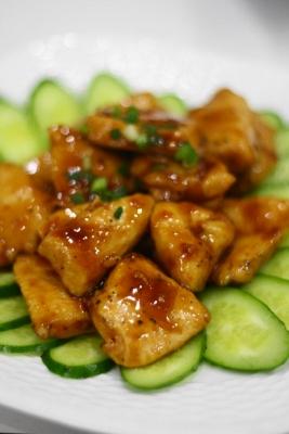 鶏胸肉の黒酢炒め
