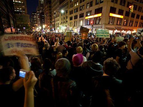 格差に反対する抗議デモ