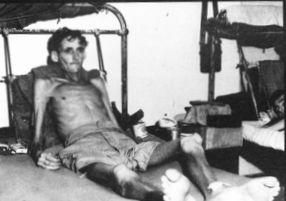 餓死寸前のオーストラリア兵捕虜