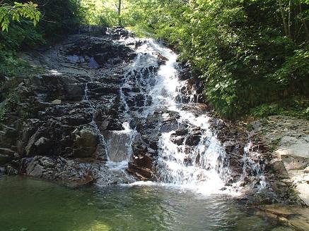 右岸支流の滝