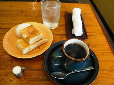 喫茶徳川:モーニングセット1