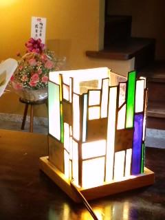 陶硝子ランプ