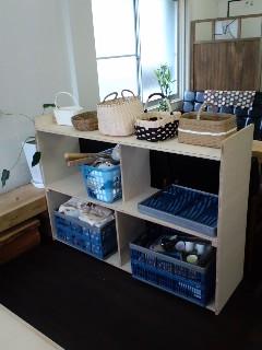 陶芸道具棚