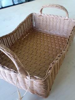 三つ編み収納カゴ
