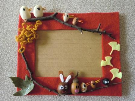 落ち葉、木の実、お豆シリーズ ... : こども 工作 : すべての講義