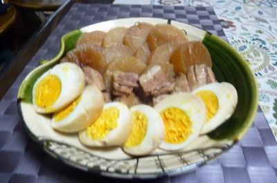 豚バラ肉とダイコンの煮物