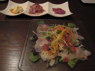 前菜&鮮魚のカルパッチョ