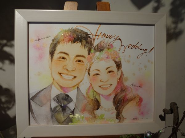 結婚式 似顔絵