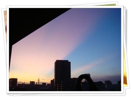 2011年9月19日の朝焼け