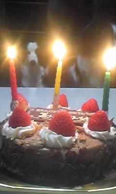 バースデーチョコケーキ