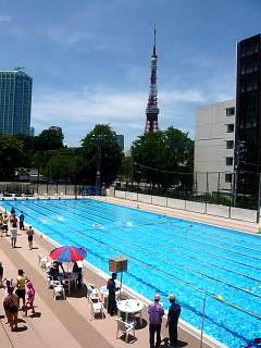 港区水泳大会(プールその1)