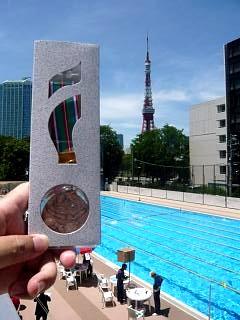 港区水泳大会(銅メダルその1)