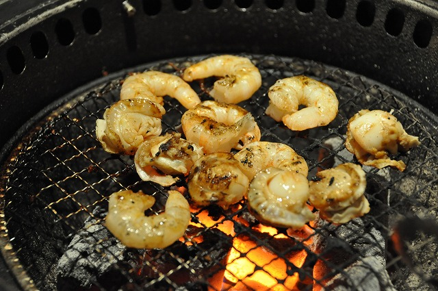 DSC_3297 ぷりぷり海老、ベビーホタテの焦が醤油焼き