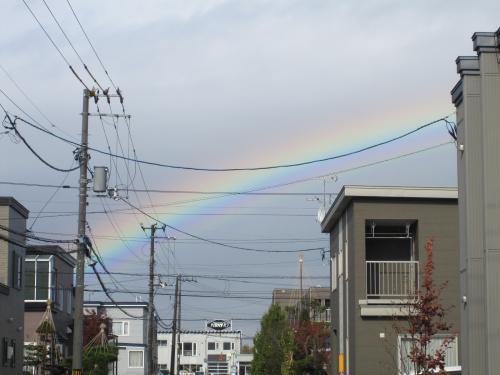 あ、虹だ・・・。