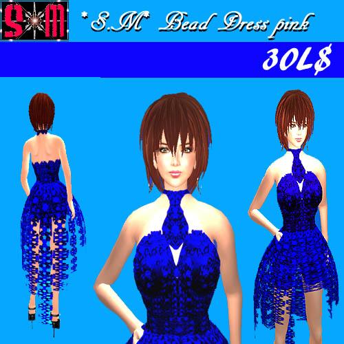 ブルービーズドレス