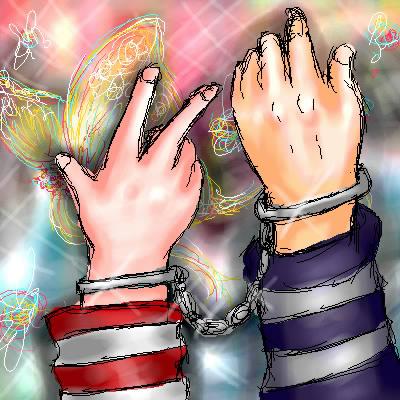 嫁画・某所のお題板で描いたイラスト。もちろんこの手はメルヒェン夫妻。
