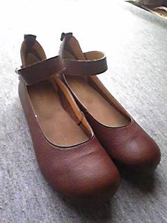 嫁のおでかけ靴。しま○らの3Lサイズ。