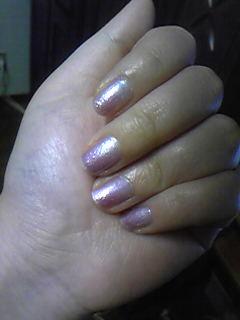嫁ネイル。淡い紫のグラデーション。シンプルに大人っぽく。