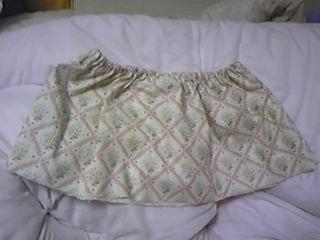 旦那作・春色スカート1段目。ウエストは嫁サイズ(笑)