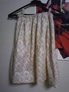 旦那作・春色スカート途中経過。とってもファンシー!