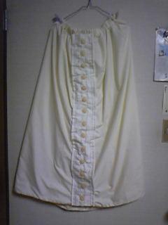 旦那作・嫁用コスプレ衣装、スカート完成。実は布団カバーでできているとは口が裂けても・・・アッ←
