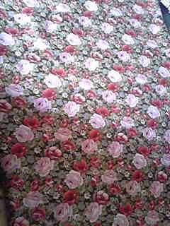手芸屋での収穫。花柄の可愛い生地!1m480円を1.5m。