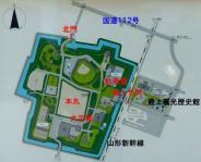 山形城跡霞城公園5案内図