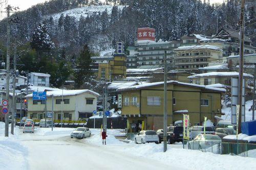 山形道笹谷峠2013冬18上山葉山温泉