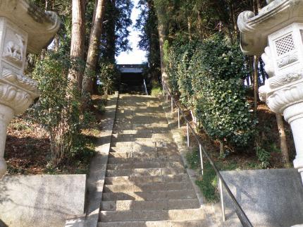 無量寿寺参道階段