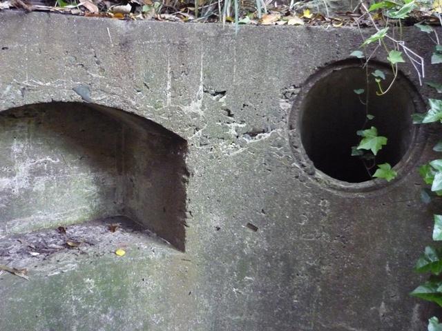棚状構築と穴