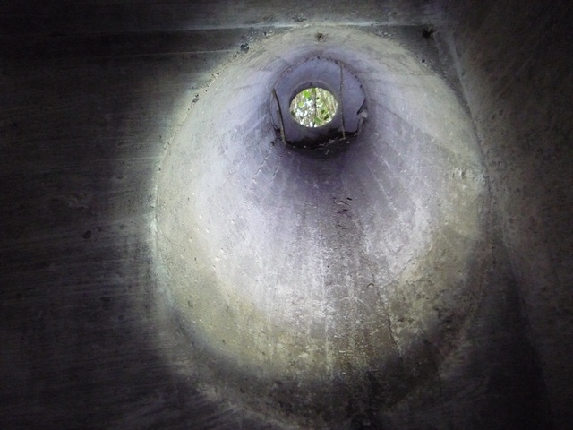 伝声管用と思われる穴