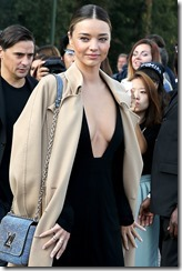 Australian fashion model Miranda Kerr attends Louis Vuitton SS 2015 at Fondation Louis Vuitton on October 1, 2014 in Paris, France