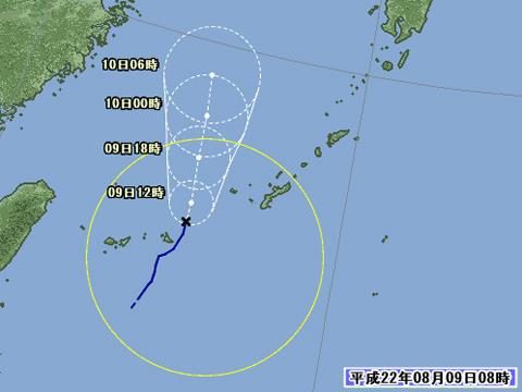 台風-進路予想図