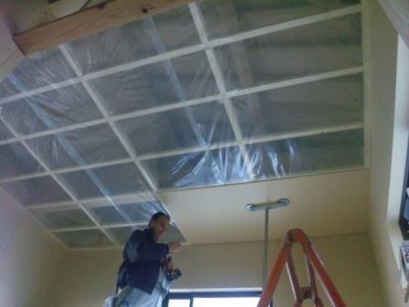 2階天井施工