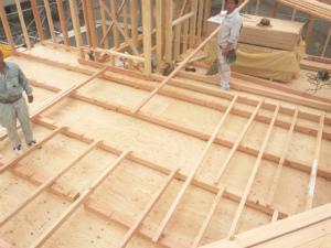 床勾配の下地施工
