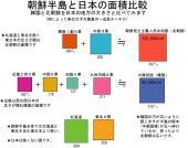 朝鮮半島・韓国・北朝鮮と日本の面積、人口