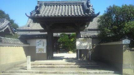 24番徳正寺の山門です
