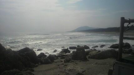 太平洋側海岸沿いのサイクリングロードを走りました。サーフィンのメッカだそうです。