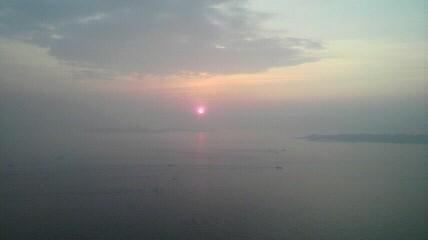 師崎からの日の出です。