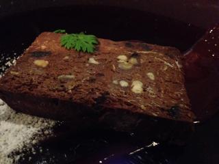 チョコレートとクルミのテリーヌ