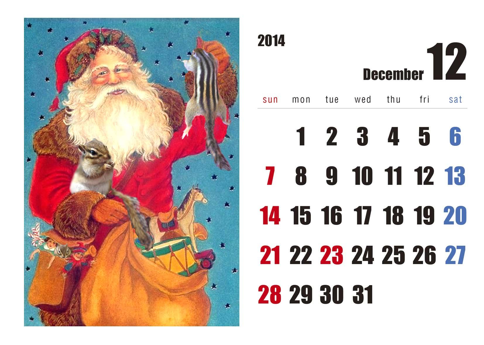 185-12月シマリスカレンダー