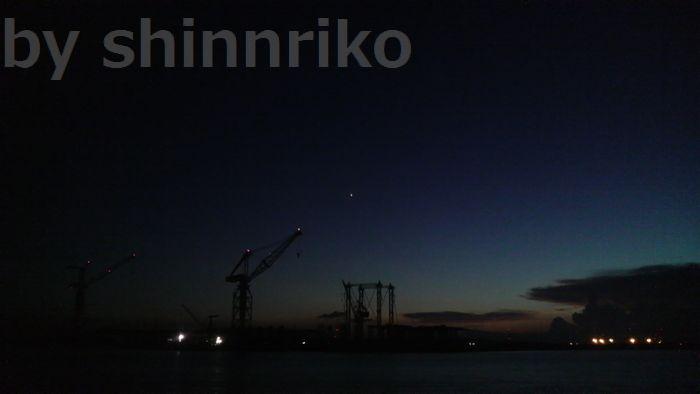 日吉原埠頭 夜の風景