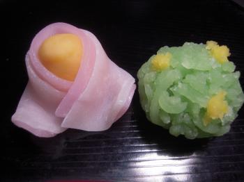 和菓子雛・菜の花