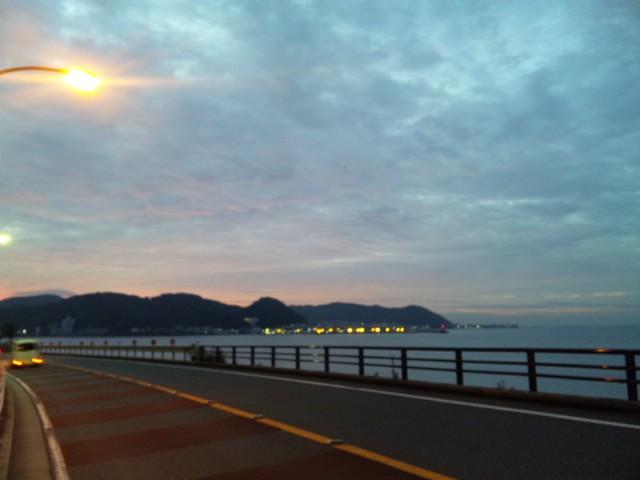 逗子海岸夜明け