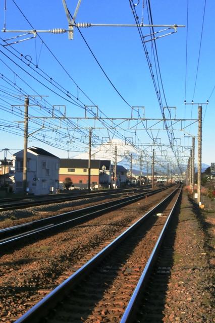 東海道線と富士山