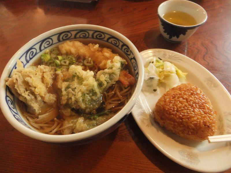 天ぷらそば&焼きおにぎり17-1
