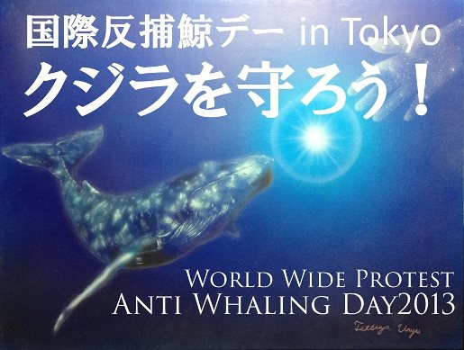 捕鯨反対デモ行進2013