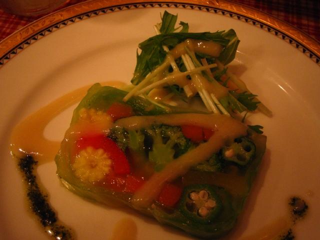 既設の野菜のテリーヌ